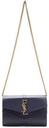 Saint Laurent Grey Sulpice Chain Wallet Bag