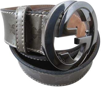 Gucci GG Buckle Brown Leather Belts