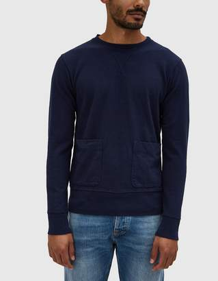 Velva Sheen Heavy oz. Crewneck Sweatshirt in Navy