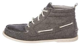 Band Of Outsiders x Sperry Top-Sider Wool Boat Sneakers