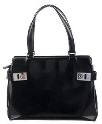 Salvatore Ferragamo Smooth Leather Tote Black Smooth Leather Tote