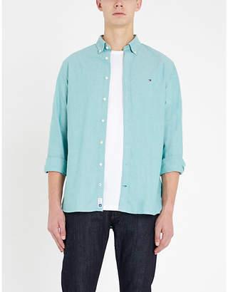 Tommy Hilfiger Logo-embroidered cotton shirt