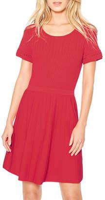 Parker Hamilton Knit Short-Sleeve Dress