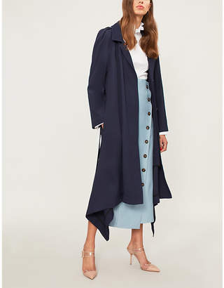 Roland Mouret Victor self-tie twill trench coat