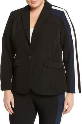 Rachel Roy Plus Darby Striped Long-Sleeve Blazer, Plus Size