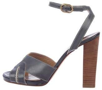 Chloé Leather Ankle Strap Sandals