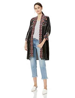Johnny Was JWLA By Women's Tiered Kimono with Embroidery