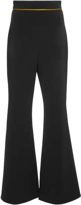 Peter Pilotto Contrast High-Rise Satin Flared Pants