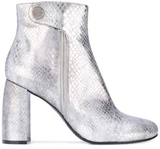 Stella McCartney metallic Alter Snakes Skin ankle boots
