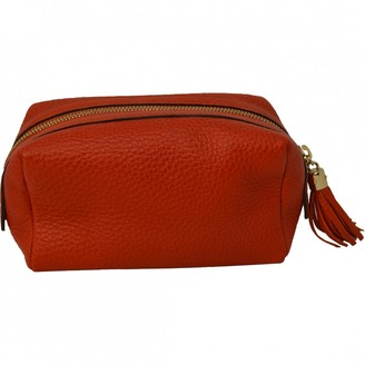 Gucci Orange Leather Travel bags