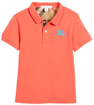 Burberry Short-Sleeve Polo Shirt, Size 4-14