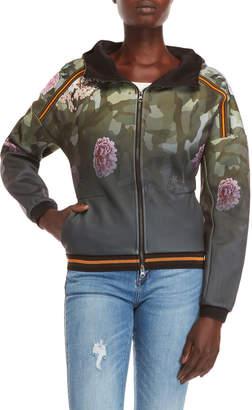 Desigual Angee Camo Flower Bomber Jacket