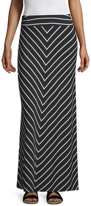 Liz Claiborne Womens Mid Rise Long Maxi Skirt