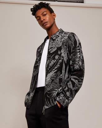 Ted Baker GORGY Printed linen-blend jacket