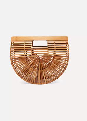 Cult Gaia Ark Small Bamboo Clutch - Beige