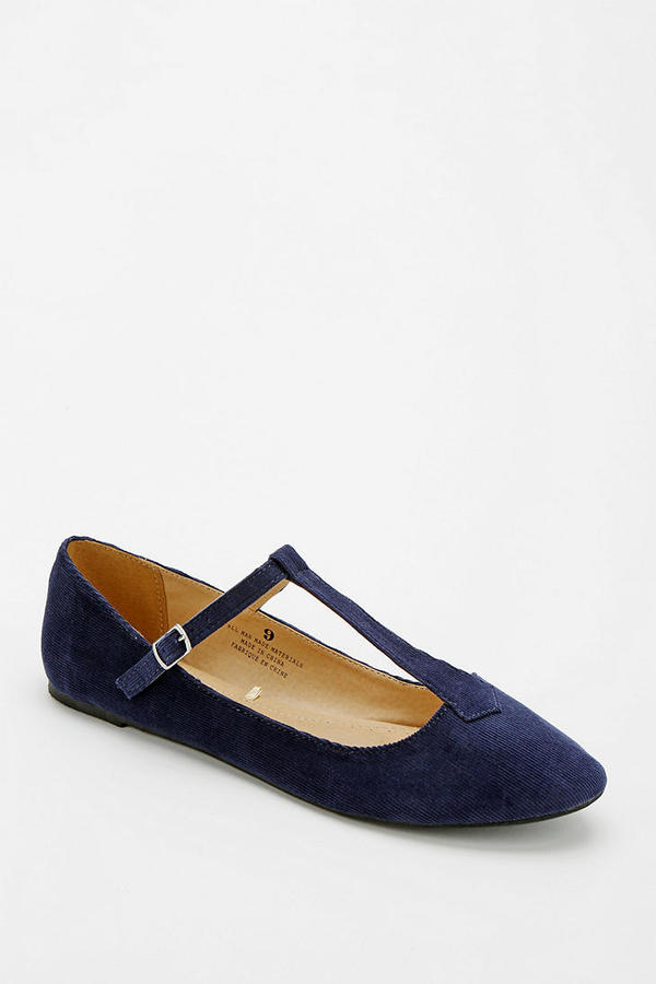 Urban Outfitters Cooperative Corduroy T-Strap Flat