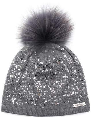 Norton Co. fur pom pom beanie