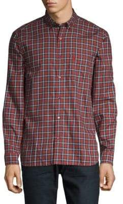 Burberry Scotson Printed Button-Down Shirt