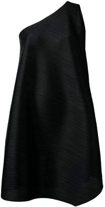 Pleats Please Issey Miyake flared one-shoulder dress