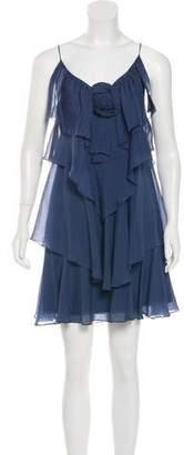 Rebecca Taylor Ruffle-Embellished Dress