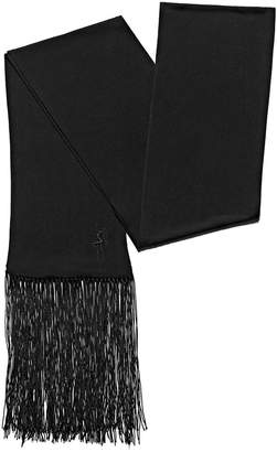 Alexander Wang Embroidered Scarf With Fringe