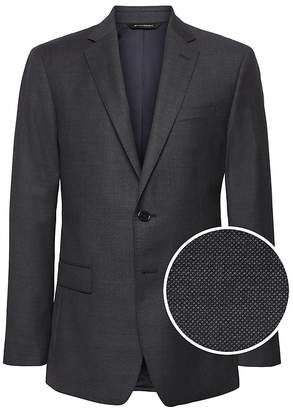 Banana Republic Slim Italian Wool Nailhead Suit Jacket