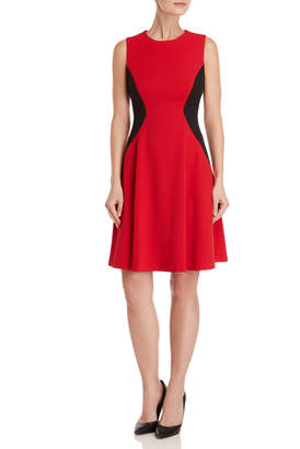 Tommy Hilfiger Color Block Fit & Flare Dress