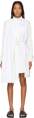 Sacai White Wrap Shirt Dress