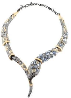 Alexis Bittar Crystal Snake Collar Necklace
