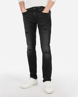 Express Skinny Black Hyper Stretch Jeans