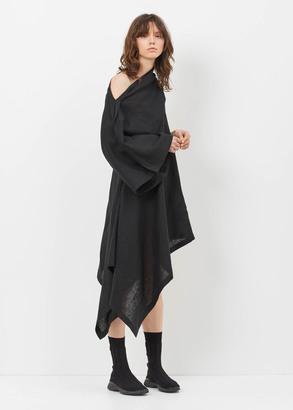 Yohji Yamamoto black left off-shoulder dress $1,630 thestylecure.com