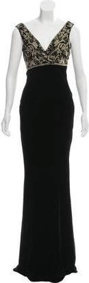 Ralph Lauren Black Label Sleeveless Velvet Evening Dress w/ Tags