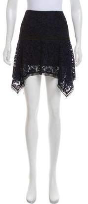 Veronica Beard Lace Mini Skirt