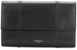 Thom Browne BROGUED LEATHER DOCUMENT WALLET