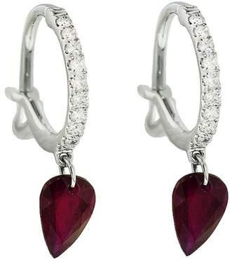 Raphaele Canot Set Free Ruby Diamond Earrings - White Gold