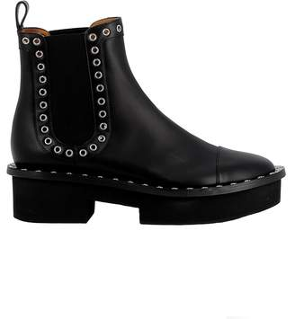 Robert Clergerie Black Leather Ankle Boots