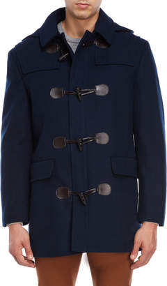 Lauren Ralph Lauren Navy Landeau Toggle Hooded Overcoat