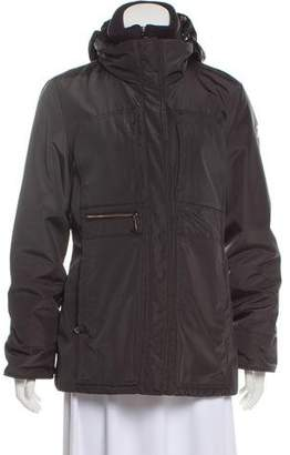 Post Card Short Zip-Up Coat