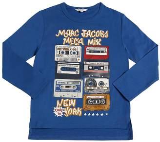 Little Marc Jacobs Mix Tapes Cotton Jersey T-Shirt