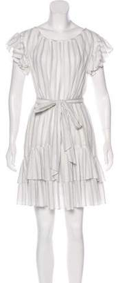 Rebecca Taylor Crepe Striped Dress w/ Tags