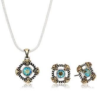 Swarovski Napier Women's Erenite Neck/Ear Jewelry Set