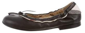 Burberry Girls' Leather Flats
