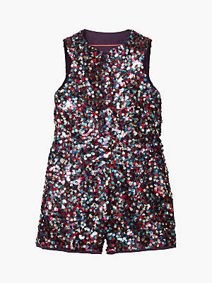 Boden Mini Girls' Sequined Playsuit, Multi