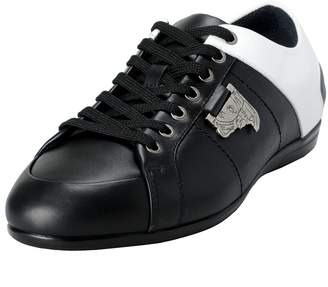 Versace Men's Twotone Leather Fashion Sneakers Shoes