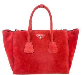 Prada Scamosciato Twin Pocket Double Tote