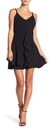 Bebe Ruffled V-Neck Dress