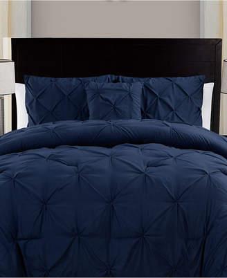 Vcny Home Carmen 3-Pc. Ruched King Duvet Cover Set Bedding