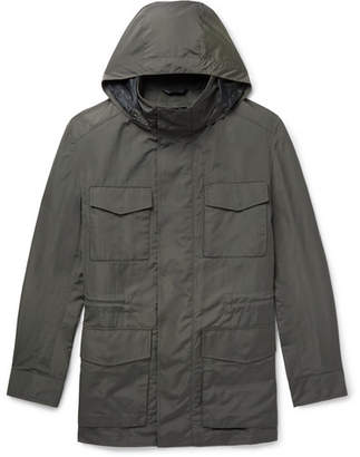 Brioni Shell Hooded Field Jacket with Detachable Quilted Gilet - Men - Green