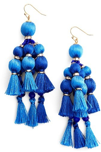 Women's Kate Spade New York Pretty Pom Tassel Drop Earrings