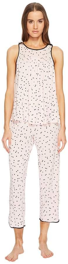 Kate Spade New York - Scattered Dot Cropped PJ Set Women's Pajama Sets